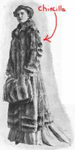 old-time photo of woman in fur coat